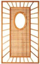 Lattice Trelliage Oval Window