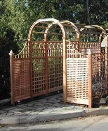 Belmont Garden Arbor and Trellis Fence