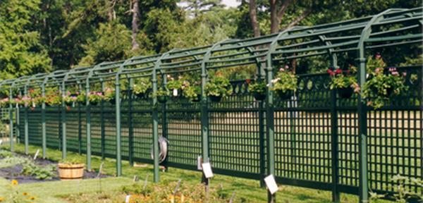Belmont Garden Arbor Walkway with Trellis Fence