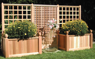 #200 Double Trellis Planter Boxes