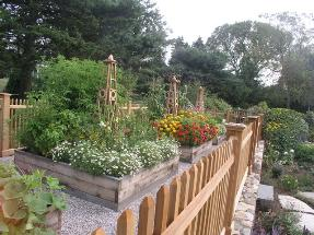 Garden Obelisks and Planter Boxes Garden Fencing