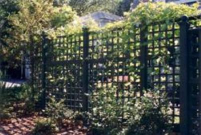 Trellis Garden Fence with Vines