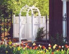 BrattleWorks' LaFayette Lattice Arbor & Gate