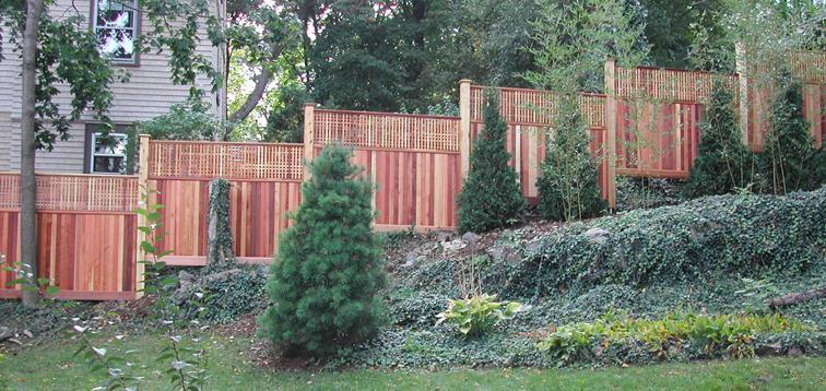how to install a privacy fence on a hill 3