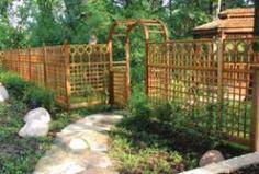 Grden Fenceing fencing Privacy Lattice Trellis