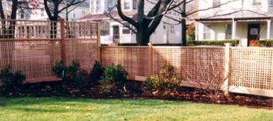 Privacy Lattice Fence Yard Perimeter