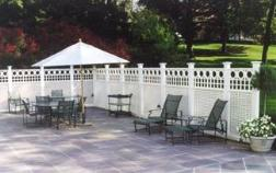 Privacy Lattice Fence for a patio
