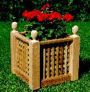Lattice Planter Boxes