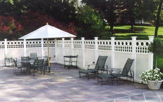 Pool Privacy Fence fences | privacy lattice | garden fencingbrattleworks