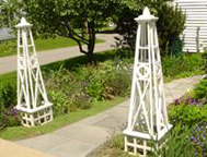 Obelisks garden path way