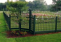 Trellis Fence & Curved Trellis Topper