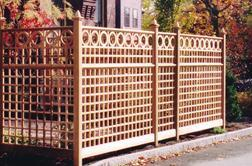 Trellis Fence and Circle Topper Panels